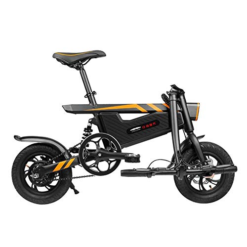 LHLCG Bicicleta eléctrica Plegable - Mini portátil Fácil de almacenar Batería de Litio 36V8Ah 16 Pulgadas E-Bike Negro