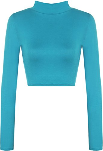 Comfiestyle - Top à manches longues - Body chemise - Uni - Manches Longues - Femme Turquoise