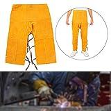 Saldatura indumenti protettivi, resistente al calore saldato regolabile regolabile in pelle bovina di sicurezza resistente all'usura pantaloni protettori delle gambe del ginocchio per saldatura forgia