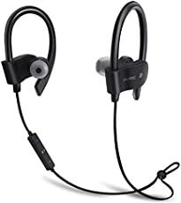 Freesolo Bluetooth 4.1 In-Ear Noice Isolating Sport Earbuds Earphone (Black, 56S-2)