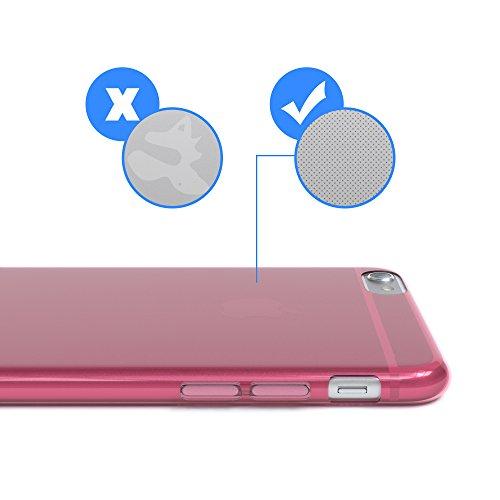 "Apple iPhone 6S / 6 Hülle, EAZY CASE Ultra Slim Cover ""Matt"" - Premium Handyhülle Transparente Schutzhülle, Smartphone Case in Transparent / Weiß Pink"