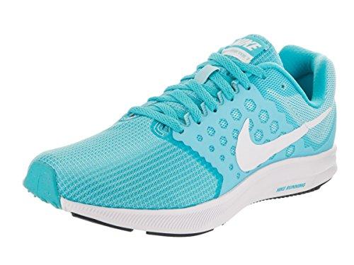Nike Damen Downshifter 7 Laufschuhe, Weiß/Rosa Blue