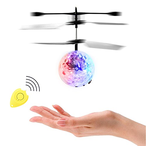 Thinkmax RC Flying Ball mit Fernbedienung, RC Infrarot-Induktion Hubschrauber Ball, eingebaute Schillernde Farbe-Wechselnden LED-Lichter Geschenk für Kinder und Teenager