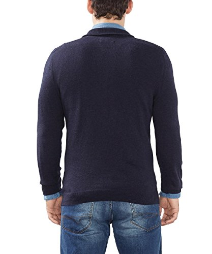 ESPRIT Collection Herren Pullover Blau (Navy 400)