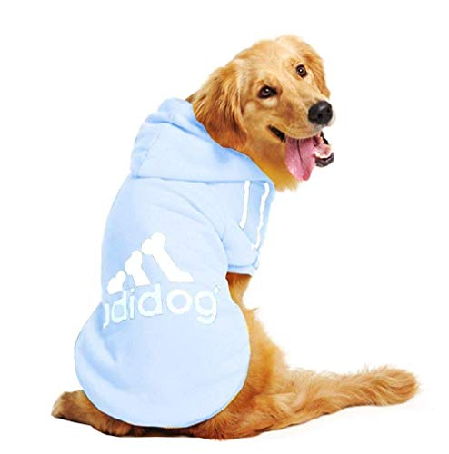 Inception Pro Infinite Kostüm - Verkleidung - Sweatshirt - Shirt - T-Shirt - hellblau - Kapuze - Adidog - Hund (XXL)