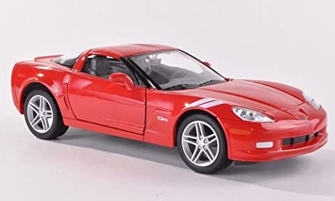 Chevrolet Corvette Z06 (C6), rot , 2007, Modellauto, Fertigmodell, Yat Ming 1:24