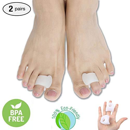 eProda Pack of 4 Toe Separators and Spreaders For Hammertoe Bunion Pain Relief Foot Pads for Men Women, Top Medical Grade Big Toe Straightener Protector Spacer Splint -