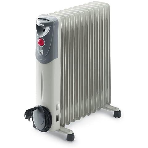 Fagor RN2500 - Radiador de aceite, 2500 W, 11 elementos, 3 posiciones, doble termostato, efecto chimenea, protección antiheladas, recogecables, color