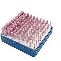 Cnmade - Juego de puntas de molienda para rueda abrasiva, accesorios de pulido de cono para herramientas rotatorias Dremel de 3 mm, vástago 100 unidades