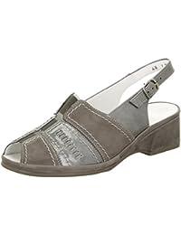 dames ara sandale 12-37039-10 rue grise, Gr. 36 à 40, largeur H, cuir