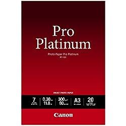 Canon PT-101 Papier Photo Pro Platinum Format A3 (20 feuilles)