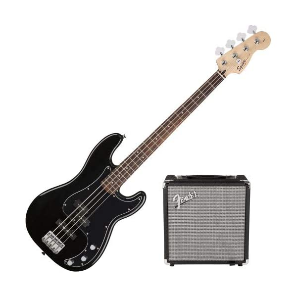 Fender Consumato Precision Bass PJ Alloro Pack Black + Custodia + Rumble 15