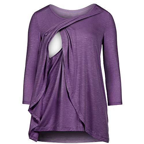 MORCHAN ❤ Champion Femmes maternit/é Allaitement Maternel Tee-Shirt dallaitement imprim/é t-Shirt /à Manches Longues