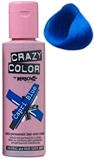 صبغة الشعر المؤقته لون ازرق كابري