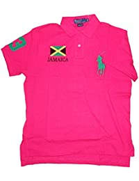 Polo by ralph lauren polo pour homme custom fit, jamaica team basic mesh, rose
