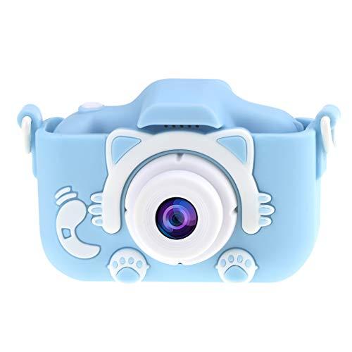 Blatboy - Cámara Infantil con diseño de Dibujos Animados, Impermeable, Recargable, para niños, HD 4000 x 3000 píxeles, cámara Infantil con cordón, Pantalla IPS de 2 Pulgadas