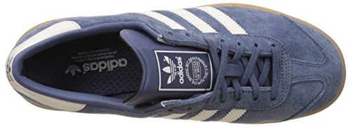 adidas Hamburg, Baskets Basses Femme Bleu (Tech Ink/Off White/Gum)
