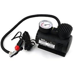 Mini coche Compresor de aire para bicicleta/bicicleta vehículo eléctrico bomba Infladores de neumáticos con indicador de presión Control, portátil