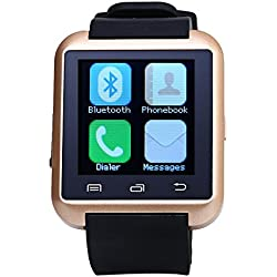 Leopard Shop U8S Outdoor Sports Smart Watch Bluetooth 3.0 Remote Camera Golden