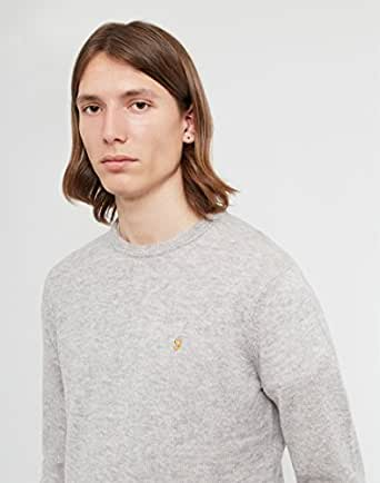 Image Unavailable. Image not available for. Colour: Farah Rosecroft Moon  Rock Lambswool Sweater-Extra Small