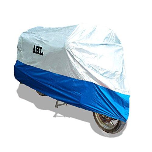Ahl Motorrad Abdeckplane Wasserdicht Staubdicht Anti-UV atmungsaktiv Externe für das ganze Jahr Blu 2XL