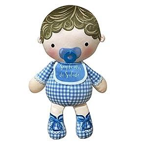ARTEMODEL- cojín la Vida... mamá niño Azul muñeco, Color (1)