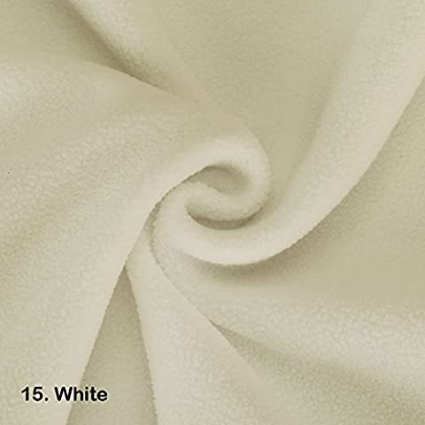 Polar Fleece Fat Squares Fabric, Quality Material, International Approved Test Report for Anti Pill Finish. 21 Fashion Colours, 50 x 75cms Pieces, Medium weight,320 Grams. Beautiful Plush Pile for garments, home décor & crafts. Vegan Alternative to Wool! Great Wholesale Price. ( meter and ½ meters variables also available) - 15. White - Fat Square