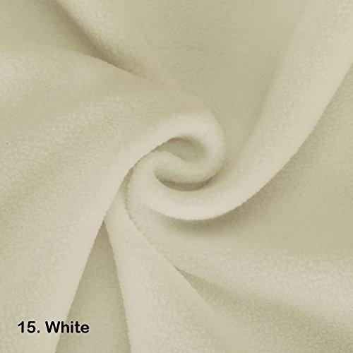 Polar-Fleece-Stoff, 2 m, Vegan Alternative zu Wolle International zugelassenen Test auf! Anti Pille fertig stellen. 21 Farben, schöne Plüsch Flor für Kleidung, Handarbeiten, home décor, Polyester, 15. White, ½ Metre