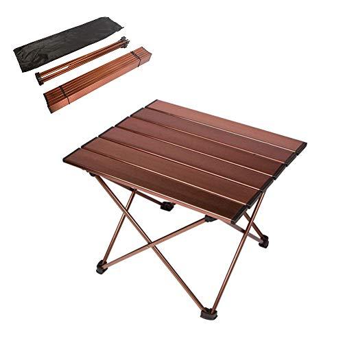 Anpi tavolo pieghevole in lega di alluminio, tavolino portatile all'aperto per picnic campeggio escursione viaggi pesca spiaggia bbq
