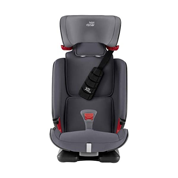 Britax Römer car seat 9-36 kg, ADVANSAFIX Z-LINE Isofix Group 1/2/3, Storm Grey Britax Römer Made in germany Flip & grow - change from buckle to secureguard Excellent security concept - with xp-pad, secureguard and pivot link isofix system 4