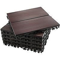 ECO-PAVE 7610343102764 acuática antideslizante suelo de color caoba oscuro 30X30 cm 6 piezas