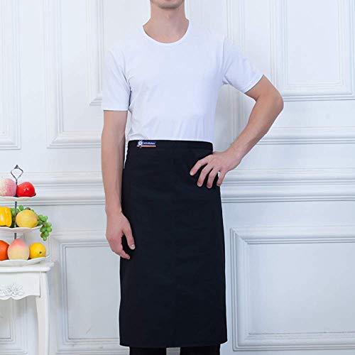 YXDZ (2 Stück Kochschürze Home Kitchen Cooking Waist Black Männer Und Frauen Kaffee Milch Tee Hotel Western Restaurant Half-Length Schürze Black