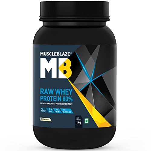 MuscleBlaze Raw Whey Protein - 2.2 lb/1 kg, 33 Servings...