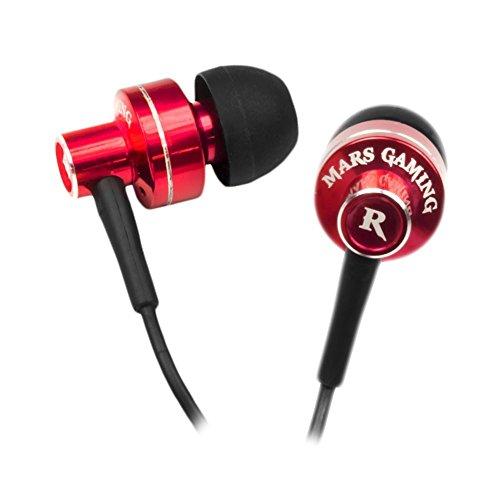 Mars Gaming MIH1 - Auriculares gaming in-ear (micrófono  integrado, mando de...