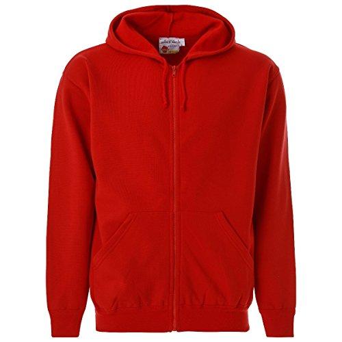 Preisvergleich Produktbild The Big Apple - Kapuzenpullover mit Reißverschluss - Rot,  XXL