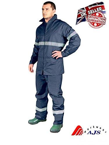Traje de lluvia Rainer de pantalón y chaqueta, talla XXXL, azul