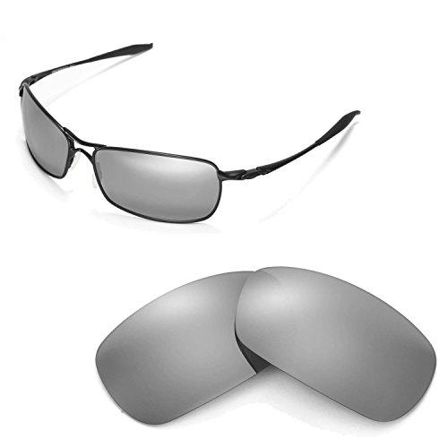 Walleva Ersatzgläser für Oakley Crosshair 2.0 Sonnenbrille - Mehrfache Optionen (Titanium Mirror Coated - Polarisiert)