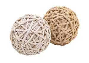 Plutus Brands Assorted Dual Decorative Jute Balls with a Classy Look