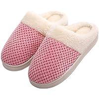 LUOEM Zapatillas de Estar para Mujeres de Peluche Antideslizante Tamaño 36-37 (Rosa)