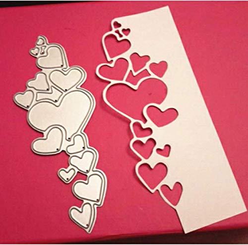 Cascading Heart Edger Metall Stanzformen Scrapbooking Handwerk Stanzformen Schnitte Dünne Papierkunst Prägekarte Machen Schablone