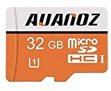 Carte Mémoire MicroSD 32Go Auanoz Micro SDHC Classe 10 UHS-I Carte Mémoire Haute Vitesse Pour Téléphone, Tablette Et PC - Avec Adaptateur (Orange-32gb)