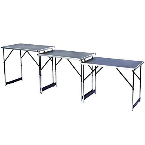 3x tavolo multifunzione multiuso–tavolino pieghevole mercato tavolo tappezziere set da pezzi