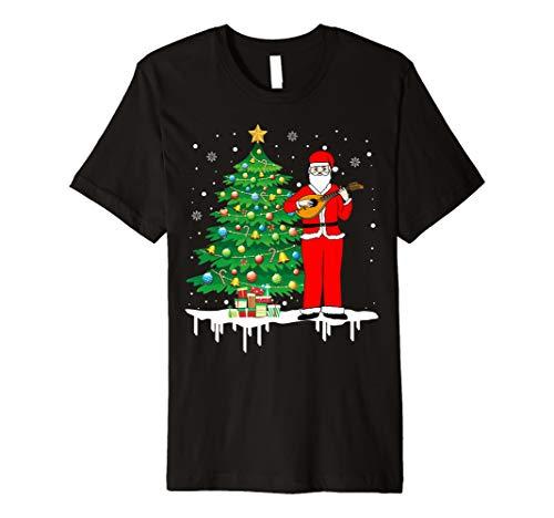 Weihnachtsmann, der Mandoline-lustiges T-Shirt -