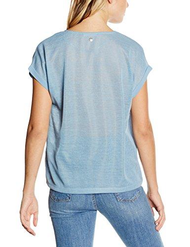 s.Oliver Damen T-Shirt Blau (smoke blue placed print 52D1)