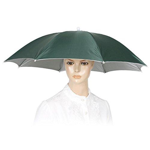 Schwarz-elastisches Stirnband Dark Green Polyester Canopy Regenschirm-Hut-Kappe für Angeln