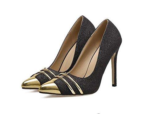 Donna Pump 11cm Scarpin punta punta colore Match tacchi alti scarpe da sposa Scarpe da ballo scarpe da sposa Scarpe da ginnastica Scarpe da ginnastica Eu Size 34-40 ( Color : Black , Size : 37 )