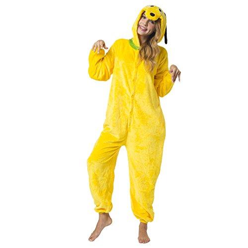 Imagen de kigurumi pijama disfraz de animal traje de noche para adultos unisex  ideal para cosplay, carnaval o halloween  el perro pluto con capucha l alternativa