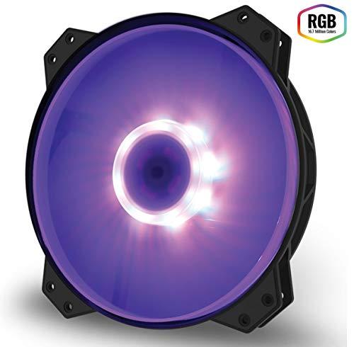 Cooler Master MasterFan MF200R RGB Gehäuselüfter 'RGB LED, Silent Cooling Technology, 200mm' R4-200R-08FC-R1