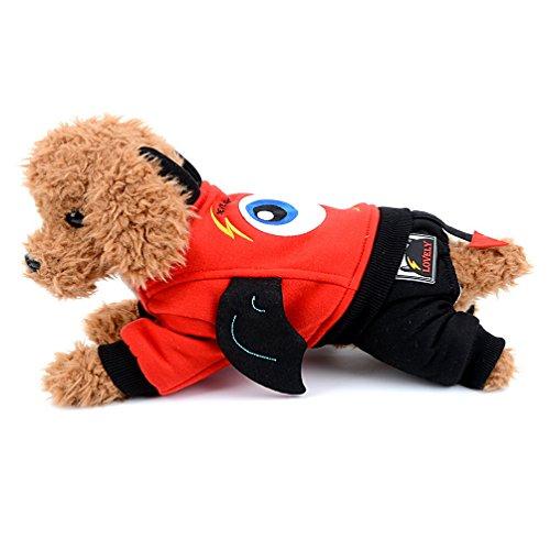 selmai Welpen Kleiner Hund Fleece Mantel Devil Halloween Kostüme Hoodies Jumpsuits Jacke Winter Warm Pet Hund Katze Chihuahua Bekleidung Kleidung