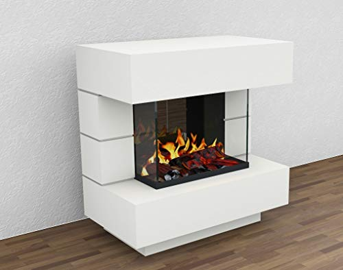 muenkel design London 900 OPTI-GLO - Chimenea eléctrica (luz Blanca cálida, sin...